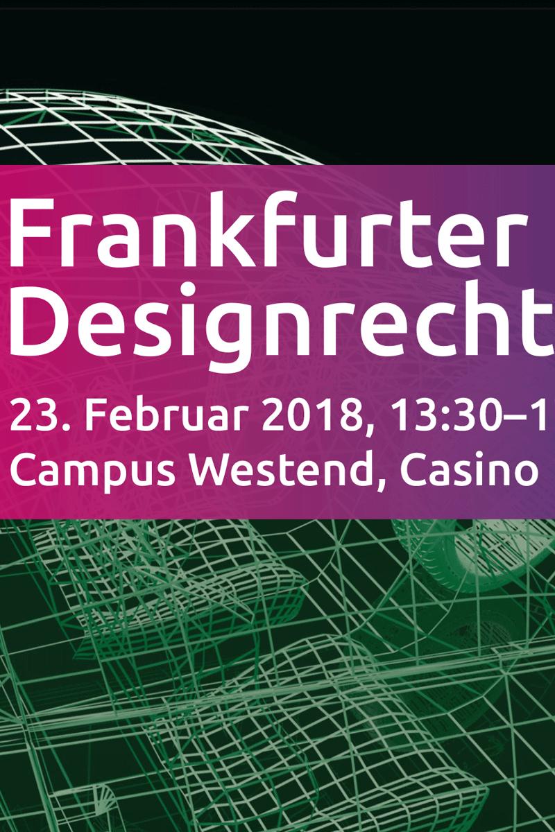 Plakat zu Frankfurter Designrechte der Göthe Uni Ffm.