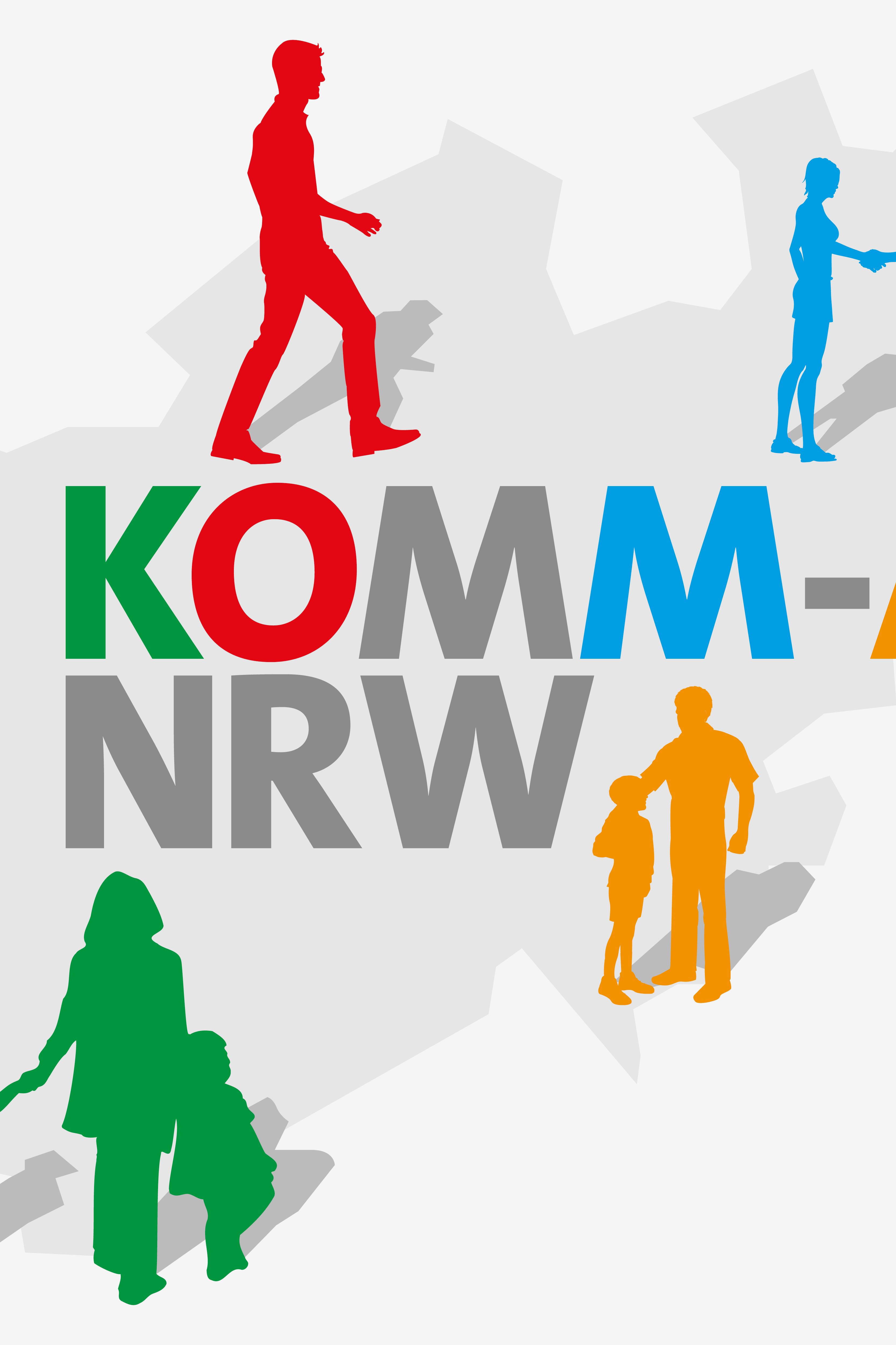 Logo Komm an NRW (Ministerium für Arbeit, Gesundheit und Soziales)